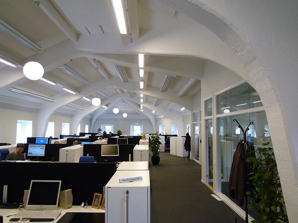 Kontorslandskap för IT-företaget Atos