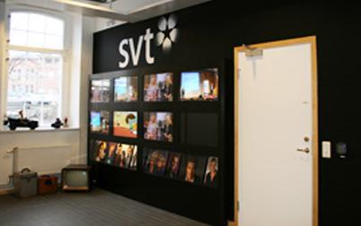 Interiör från SVTs lokaler